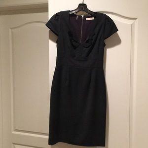 Rebecca Taylor grey cap sleeve dress